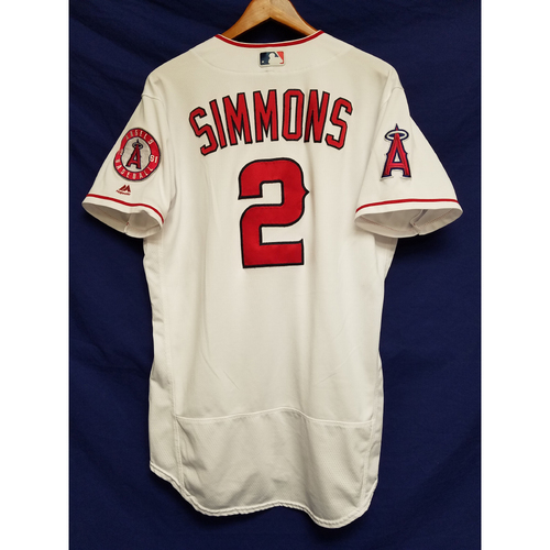 Photo of Andrelton Simmons 2017 Game-Used Home Jersey