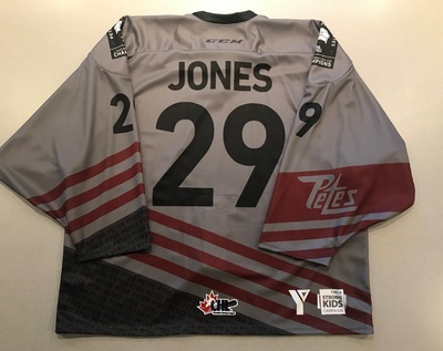 Hunter Jones (#29) - '93 Petes Alumni Jersey