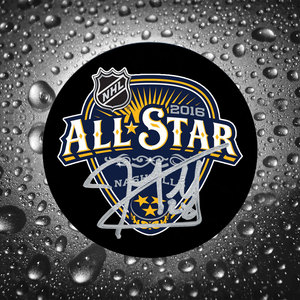 John Scott 2016 NHL All-Star Autographed Puck Montreal Canadiens