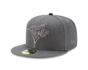 Toronto Blue Jays Jumbo Heather Fitted Cap Grey by New Era