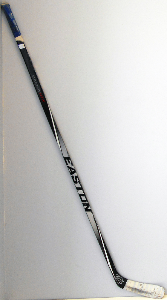 #67 Benoit Pouliot Game Used Stick - Autographed - Edmonton Oilers