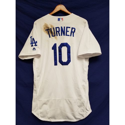 Photo of Kershaw's Challenge: Justin Turner Game-Used Home Jersey