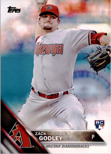 Photo of 2016 Topps #290 Zack Godley Rookie Card -- D'backs post-season