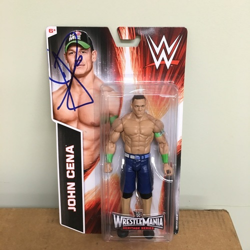 Photo of John Cena SIGNED Action Figure