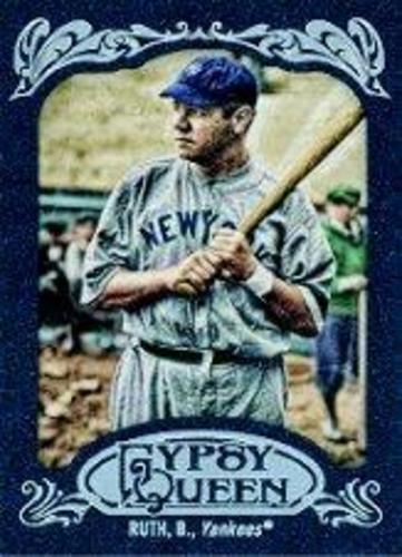 Photo of 2012 Topps Gypsy Queen Framed Blue #300 Babe Ruth