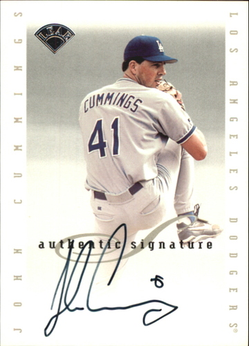 Photo of 1996 Leaf Signature Extended Autographs #39 John Cummings