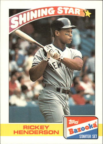 Photo of 1989 Bazooka #14 Rickey Henderson