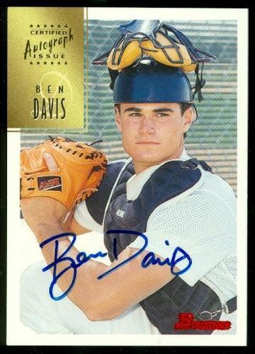 Photo of 1997 Bowman Certified Blue Ink Autographs #CA20 Ben Davis