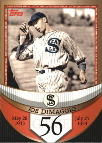 Photo of 2007 Topps DiMaggio Streak Before the Streak #JDSF56 Joe DiMaggio