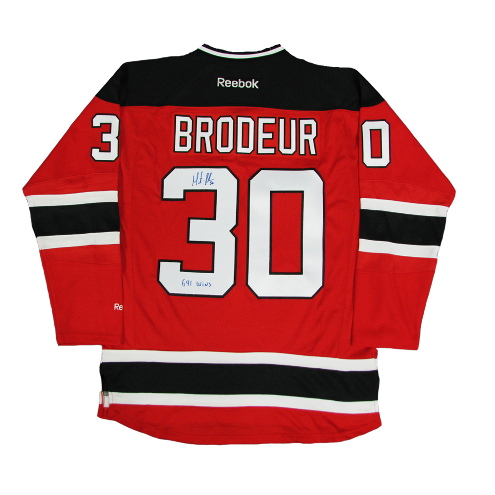 MARTIN BRODEUR Signed New Jersey Devils Red Reebok Jersey with
