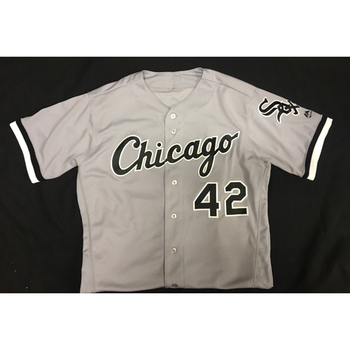 Photo of Yolmer Sanchez Game-Used 2017 #42 Jersey