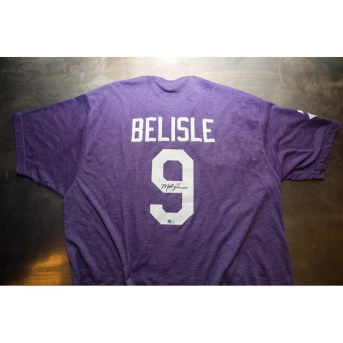 Photo of Autographed Matt Belisle Prince Night Batting Practice T-Shirt