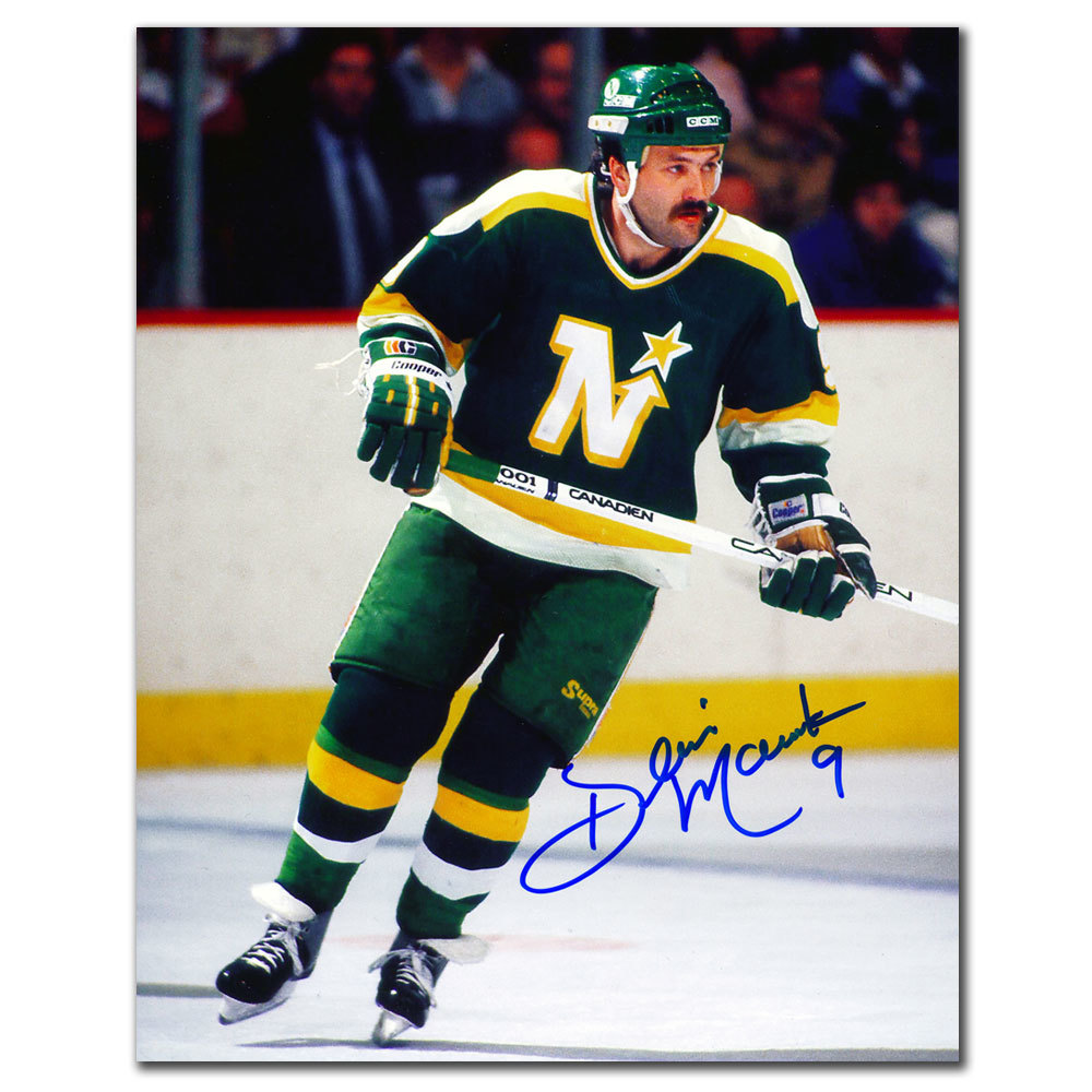 Dennis Maruk Minnesota North Stars Autographed 8x10