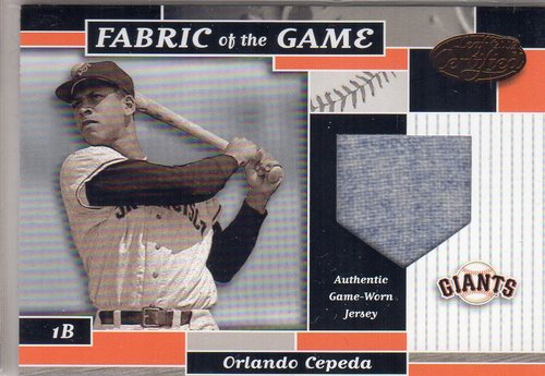 Photo of 2002 Leaf Certified Fabric of the Game #56BA Orlando Cepeda/80