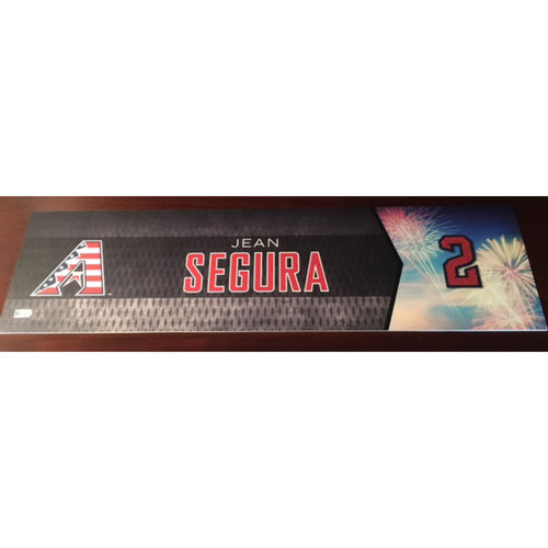 Photo of Jean Segura Game-Used 4th of July Nameplate