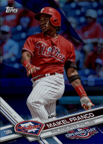 Photo of 2017 Topps Opening Day Blue Foil #17 Maikel Franco