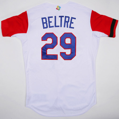Photo of 2017 WBC Dominican Republic Game-Used Home Jersey, Beltre #29