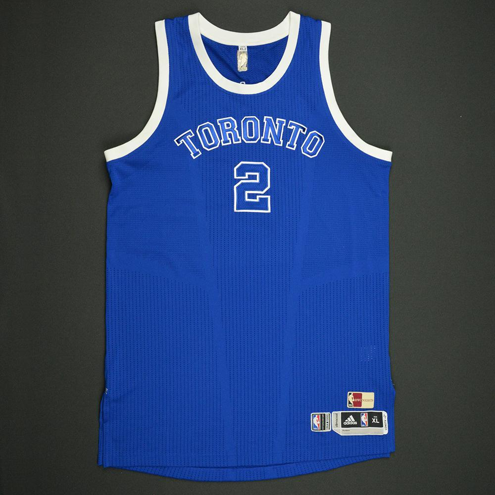 PJ Tucker - Toronto Raptors - Game-Worn Blue '1946-47 Road Hardwood Classics' Jersey - 2016-17 Season
