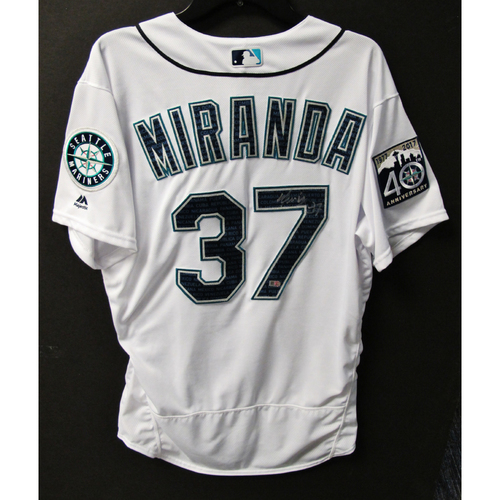 Photo of Mariners Care Hurricane Irma Relief - Ariel Miranda Game-Used  and Autographed Marineros Jersey 9-9-2017 Size 46