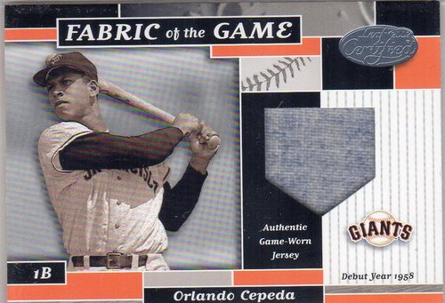 Photo of 2002 Leaf Certified Fabric of the Game #56DY Orlando Cepeda/58