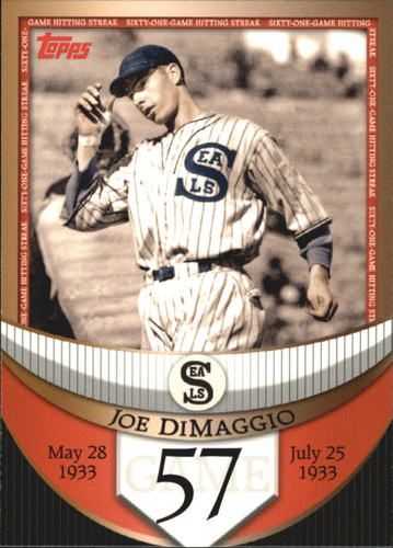 Photo of 2007 Topps DiMaggio Streak Before the Streak #JDSF57 Joe DiMaggio