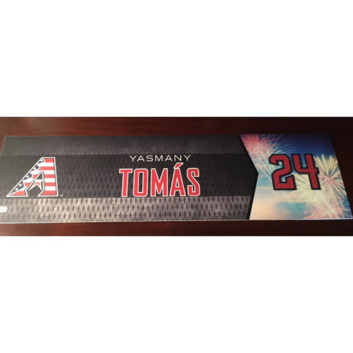 Photo of Yasmany Tomas Game-Used 4th of July Nameplate