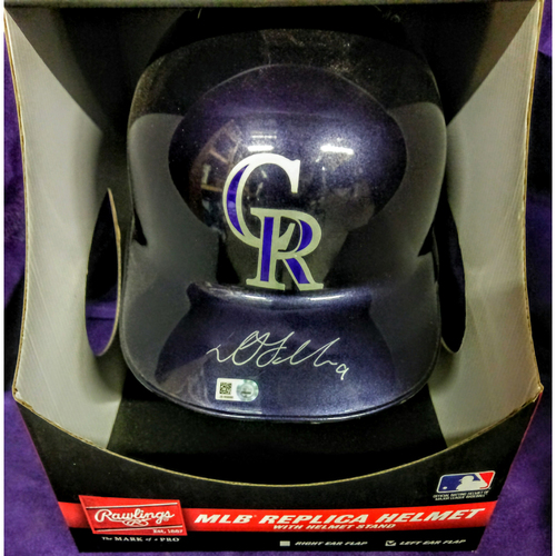 Photo of Colorado Rockies DJ LeMahieu Autographed Replica Batting Helmet