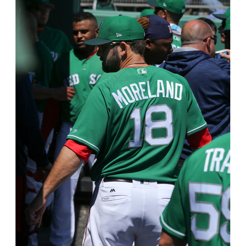 Photo of Red Sox Foundation St. Patrick's Day Jersey Auction - Mitch Moreland Game-Used & Autographed Jersey