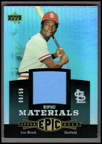Photo of 2006 Upper Deck Epic Materials Dark Green #LB2 Lou Brock Jsy/50