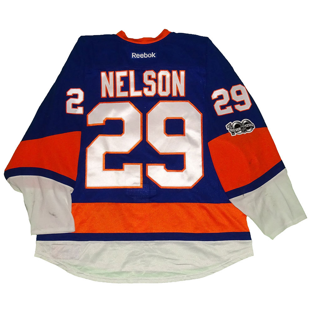 Brock Nelson - Game Worn Home Jersey - 2016-17 Season - New York Islanders