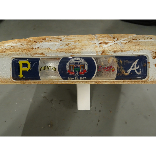 Photo of Game-Used 2nd Base used during 1-3 innings on May 22, 2017 - Braves 5, Pirates 2