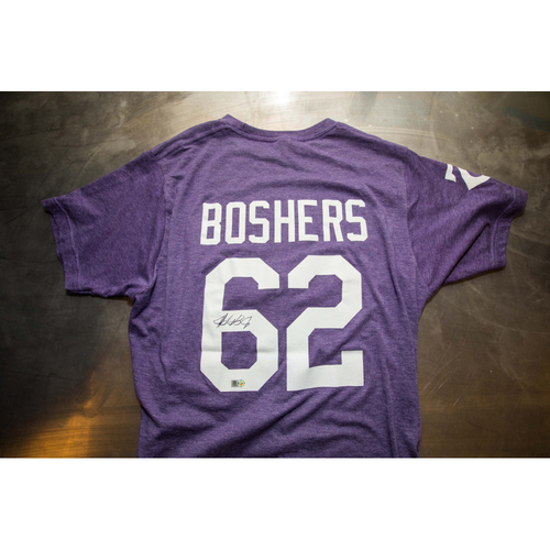 Photo of Autographed Buddy Boshers Prince Night Batting Practice T-Shirt