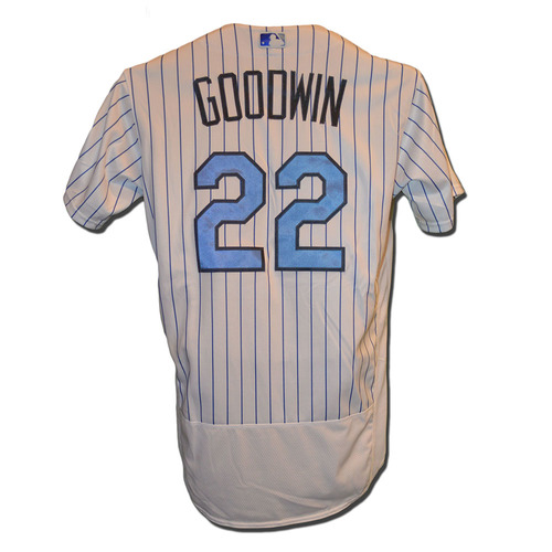 Photo of Tom Goodwin #22 - Game Used Father's Day Jersey - Mets vs. Nationals - 6/18/17
