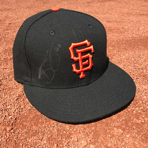 Photo of San Francisco Giants - Autographed Cap - Hunter Strickland