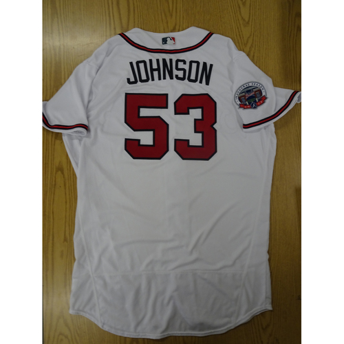 Photo of Jim Johnson Game-Used Los Bravos Jersey - Worn 9/17/17 at SunTrust Park