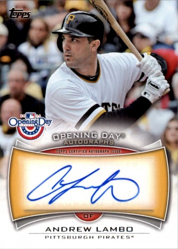Photo of 2014 Topps Opening Day Autographs #ODAAL Andrew Lambo