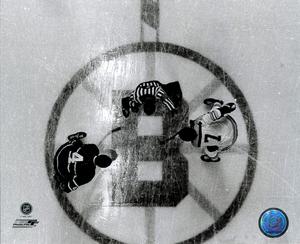 Jean Beliveau & Phil Esposito Montreal Vs Boston FACEOFF 8x10 Photo