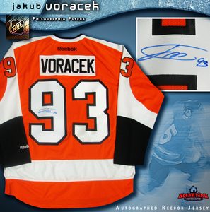 JAKUB VORACEK Signed Philadelphia Flyers Orange Reebok Jersey