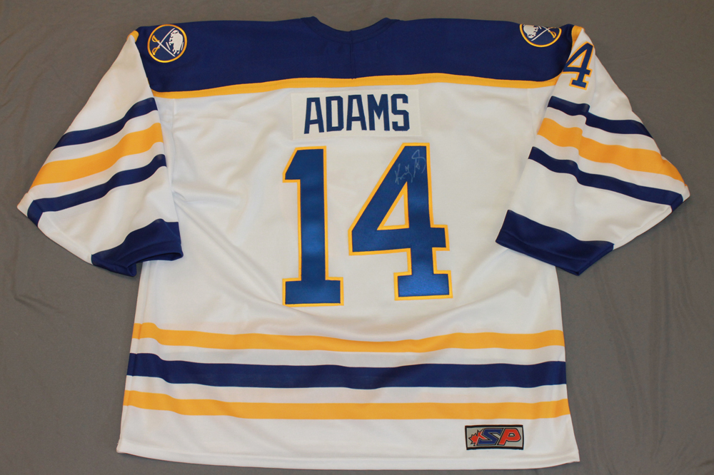 Kevyn Adams Autographed Buffalo Sabres Breast Cancer Awareness Jersey