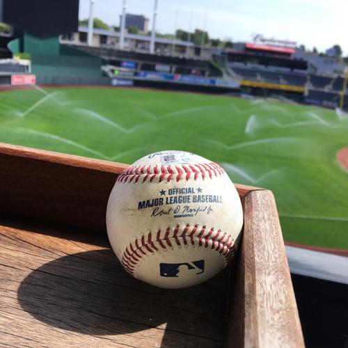 Photo of Game-Used Baseball - Perez Throwout (9/16/16)