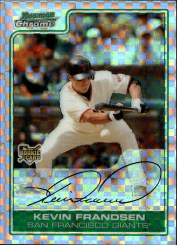 Photo of 2006 Bowman Chrome Draft X-Fractors #25 Kevin Frandsen