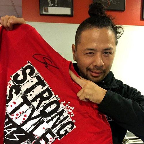 Shinsuke Nakamura SIGNED Authentic T-Shirt (Size L)