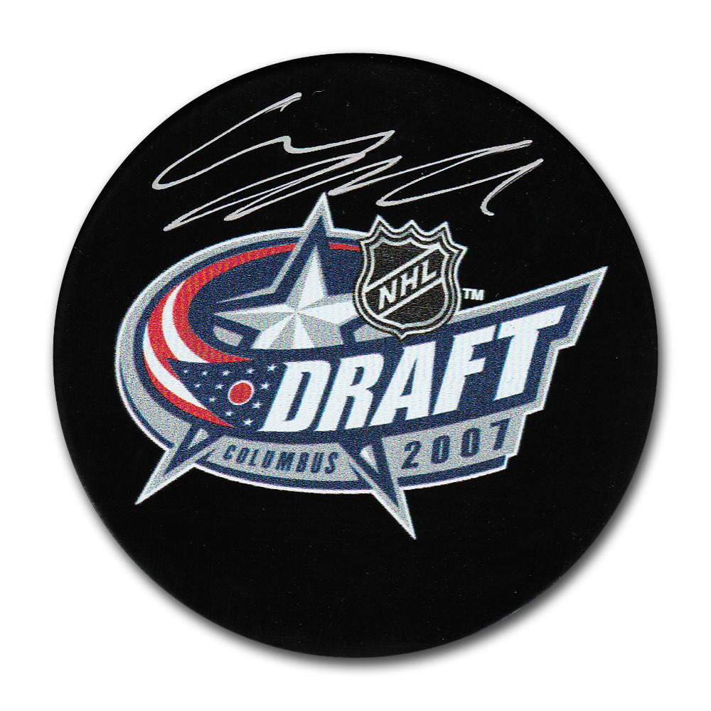 Carl Hagelin Autographed 2007 NHL Entry Draft Puck