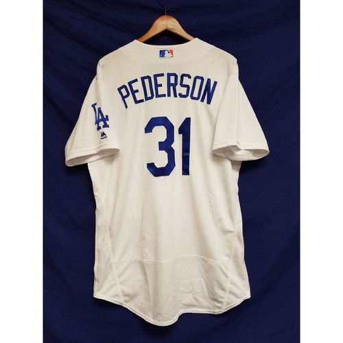 Photo of Kershaw's Challenge: Joc Pederson Game-Used Home Run Home Jersey