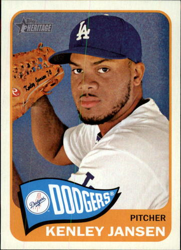 Photo of 2014 Topps Heritage #403 Kenley Jansen -- Dodgers post-season