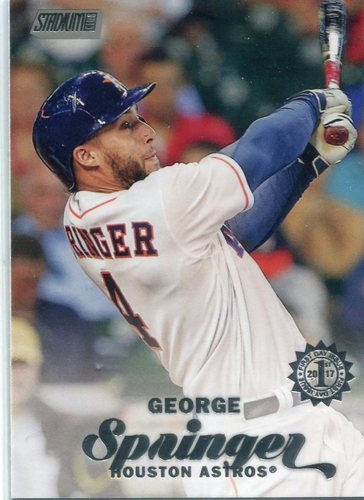 Photo of 2017 Stadium Club First Day Issue #294 George Springer  -- Astros ALCS roster