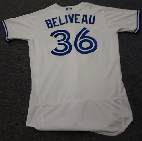 Photo of Authenticated Team Issued Jersey - #36 Jeff Beliveau (2017 Season). Size 44.