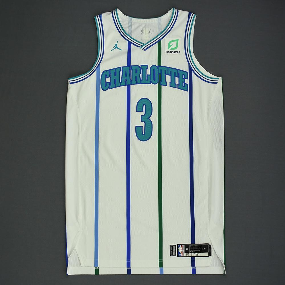 Jeremy Lamb - Charlotte Hornets - Kia NBA Tip-Off 2018 - Game-Worn Classic Edition '1988-97 Home' Jersey