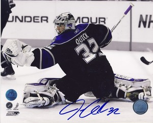 Jonathan Quick Los Angeles Kings Autographed Action 8x10 Photo