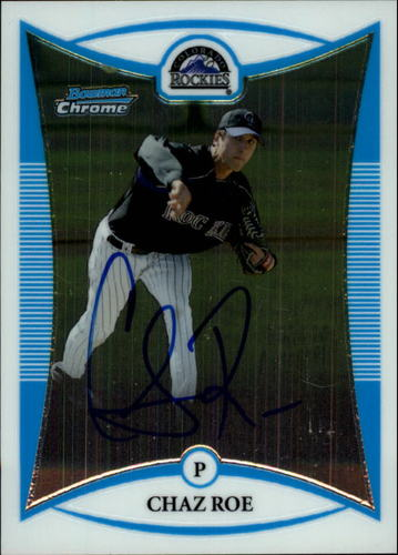Photo of 2008 Bowman Chrome Prospects #BCP257 Chaz Roe AU